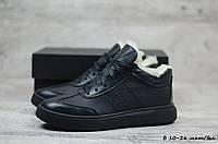 Мужские кожаные ботинки Philipp Plein (Реплика) (Код: Б 10-26 мат/бел  ) ►Размеры [40,41,42,43,44,45], фото 1