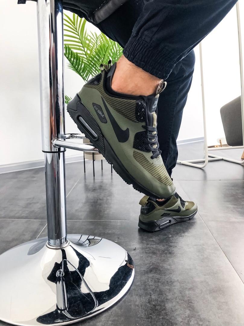 Чоловічі зимові кросівки Nike Air Max Mid Winter (зелені)