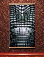 🔝 Картина обогреватель Трио (Абстракция Хай-Тек) настенный пленочный инфракрасный электрообогреватель | 🎁%🚚