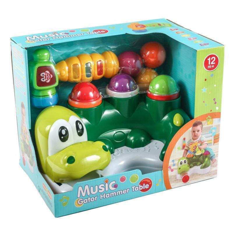 Музыкальный детский молоток стучалка Динозаврик 326