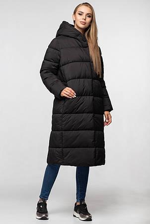 Стильное удлиненное пальто черного цвета KTL-355, фото 2
