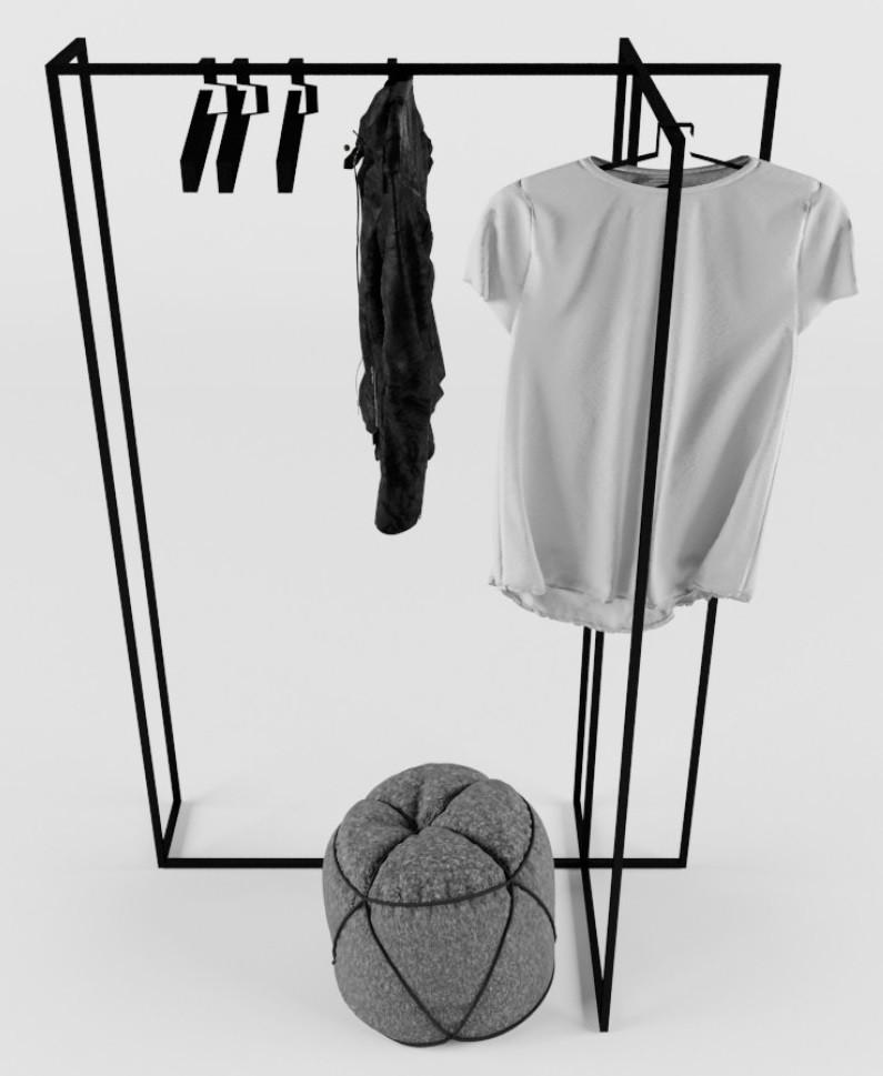 Дизайнерская вешалка-рейл для одежды Corner TM Esense