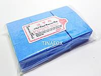 Безворсові серветки для зняття липкості 1000шт, блакитні