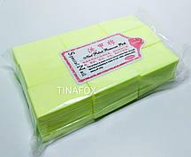 Безворсовые салфетки для снятия липкости 1000шт, желтые