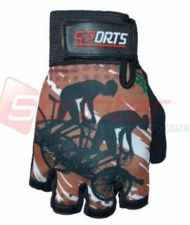 Перчатки для велосипедистов JZ-3537