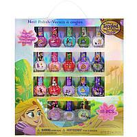 Детский лак для ногтей принцесса Рапунцель Дисней 18 штук смываются водой на водной основе TownleyGirl Disney