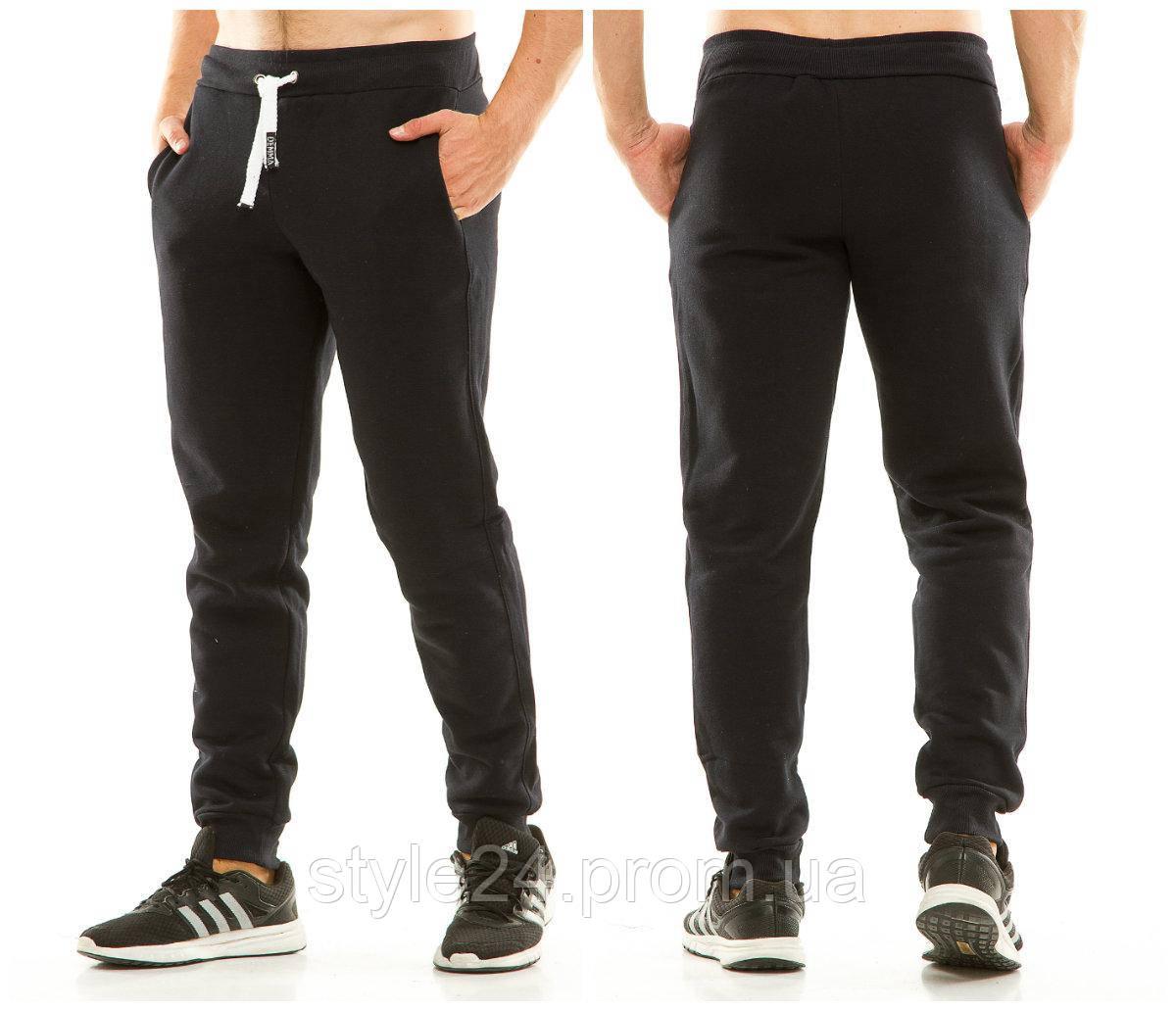 Чоловічі теплі  спортивні штани з манжетами внизу, 3 кольори.Р-ри  48-56
