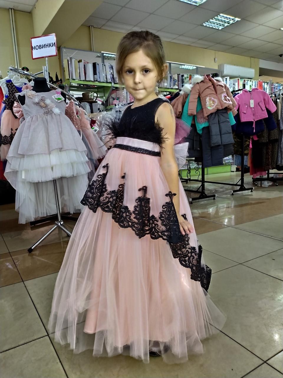 Длинное нарядное платье для девочки 6-10 лет