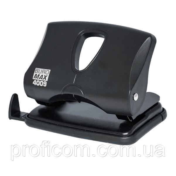 """Діркопробивач """"BuroMax"""" (20арк.) чорний, пластик. корпус"""