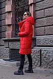 Куртка женская осень - зима красная чёрная, фото 5