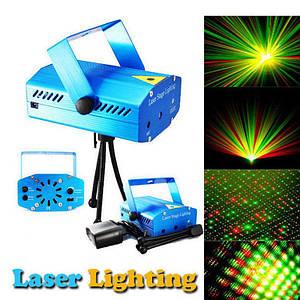 Мини лазерный проектор, внутренний проектор, новогодний лазер (Точки с линиями)