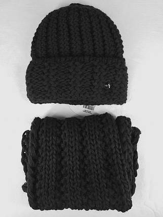 Комплект (шапка и снуд-хомут) Flirt Стилари One Size черный, фото 2
