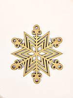 """Новогодний декор """"Резные снежинки"""" 3, LaserBox"""