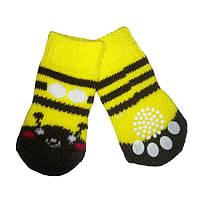 Носки для собак «Желтые мордочка», размер M 4 шт.