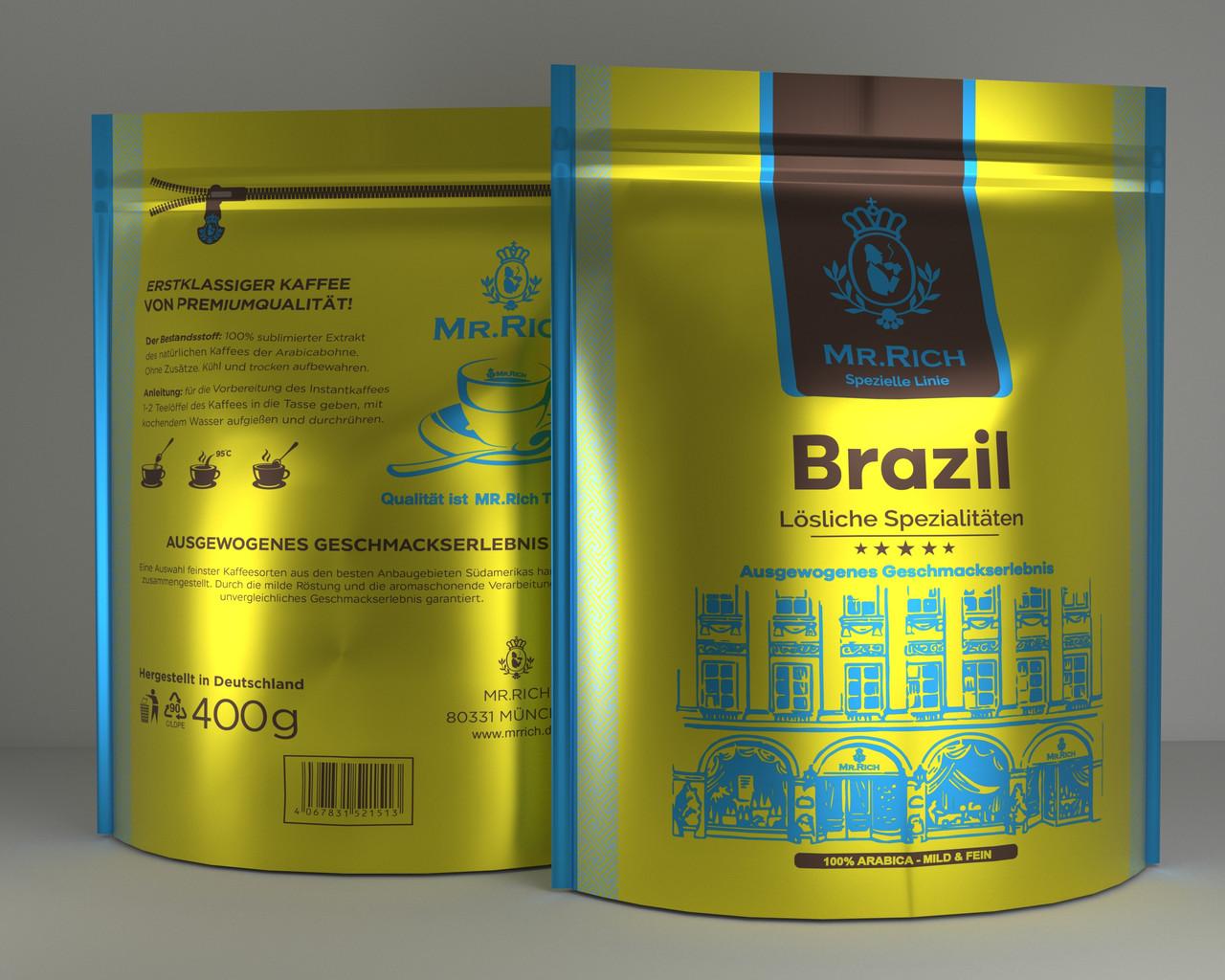 Mr.Rich Brazil 400 г. растворимый