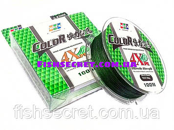 Шнур зелений EOS Ultimate Strength 100м 4Xpe