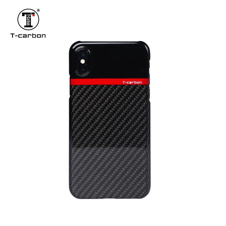Карбоновый чехол T-Carbon для Apple iPhone XS + защитная пленка на экран в подарок