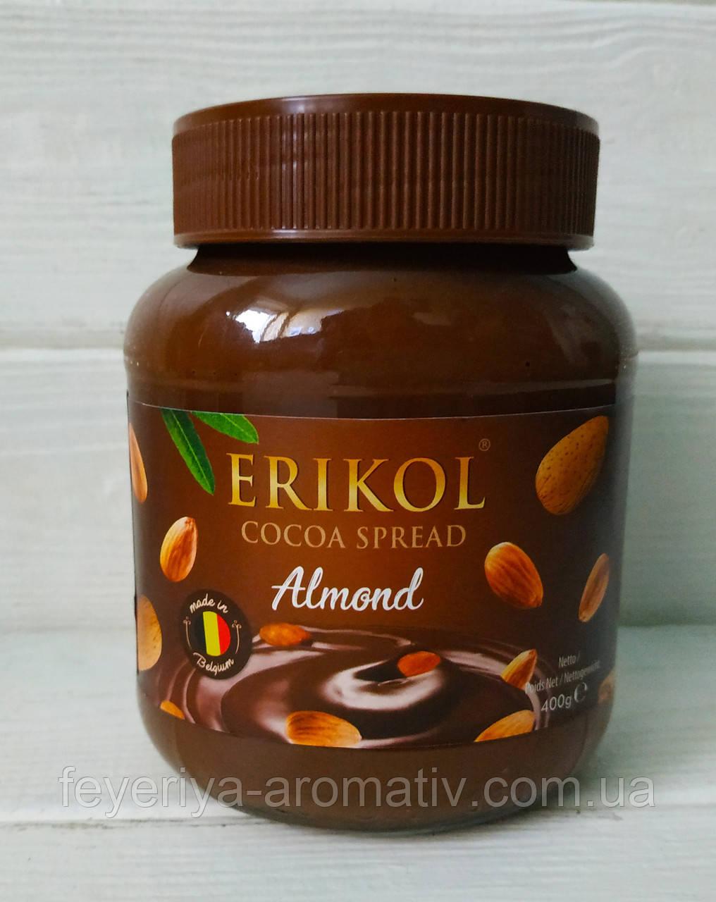 Шоколадно-миндальная паста Erikol 400g Германия