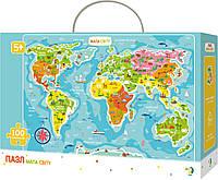Пазл DoDo Карта Мира на украинском языке 100 элементов (300110/100110)