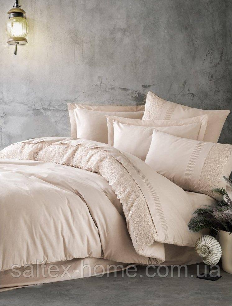 Двуспальный комплект постельного белья с кружевом от Cotton Box (евро)