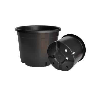 1.5л Горщик для розсади круглий Чорний (1пал.10800шт)