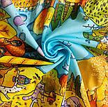 Котябрь 10681-4, павлопосадский платок (на голову, шейный) хлопковый (батистовый) с подрубкой, фото 7