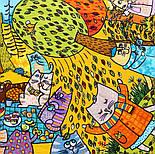 Котябрь 10681-4, павлопосадский платок (на голову, шейный) хлопковый (батистовый) с подрубкой, фото 9
