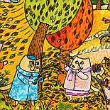 Котябрь 10681-4, павлопосадский платок (на голову, шейный) хлопковый (батистовый) с подрубкой, фото 3