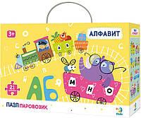 Пазл - алфавит DoDo Паровозик Русский алфавит 21 элемент (R300148)