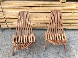Шезлонг деревянный садовый из Лиственницы, лежак из дерева