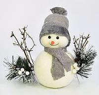 Декоративная фигурка Снеговика 25 см