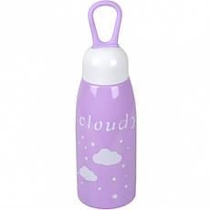 Бутылка для воды пластик с резинкой 0,45 л, фото 3