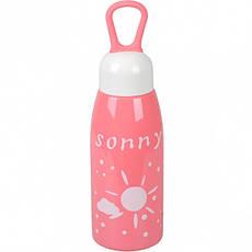 Бутылка для воды пластик с резинкой 0,45 л, фото 2