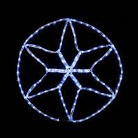Гирлянда MOTIF Star 20 Вт белая или синяя, провод черный IP44 для улицы