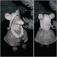 """Символ 2020 года """"Мышка девочка"""", статуэтка из поликерамики, выс. 11.5 см., 155/136 (цена за 1 шт. + 19 гр.)"""