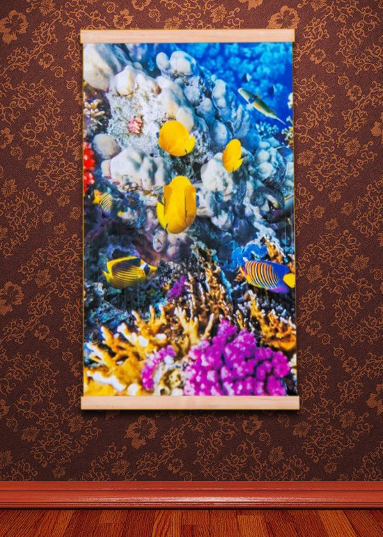 Картина обогреватель (Коралловый риф) пленочный электрообогреватель Трио 00120