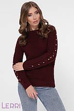Женский свитер прямой рукава на манжетах, фото 2