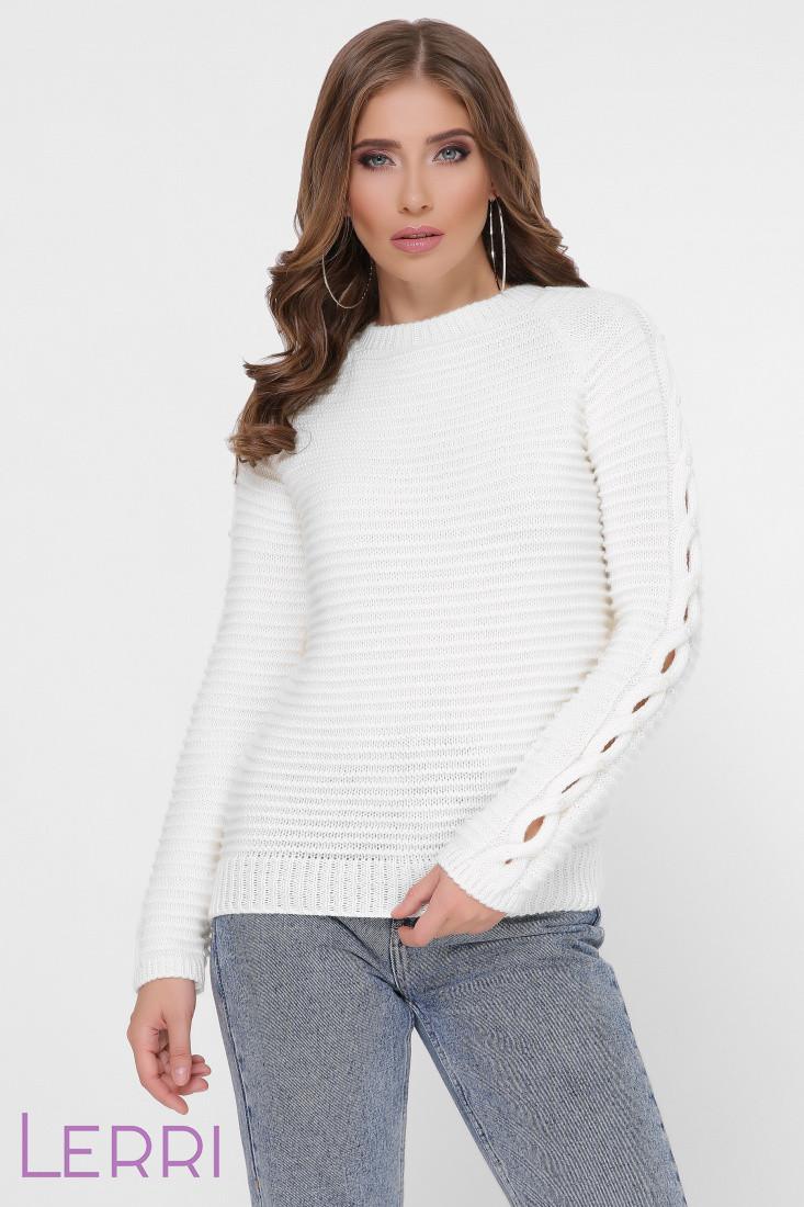 Женский свитер прямой рукава на манжетах