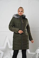 Длинная зимняя женская куртка р.44-58