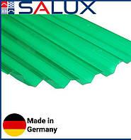 Прозрачный ПВХ лист Salux WHR 70/18 Зеленая Трапеция 1,8х0,9, фото 1