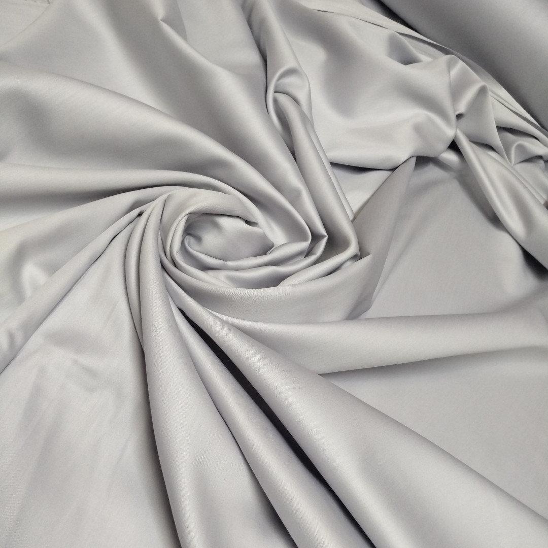 Сатин светло серый ширина 240 см. №36 (Турция)