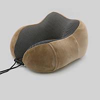 Подушка LSM для путешествий 30х28х12 коричневая (195-74)