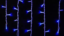Гирлянда ICICLE 7 Вт синяя, провод белый или черный 75 LED бахрома 2x0,7 м IP44 для улицы