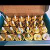 Светодиодные свечи 24шт,золото