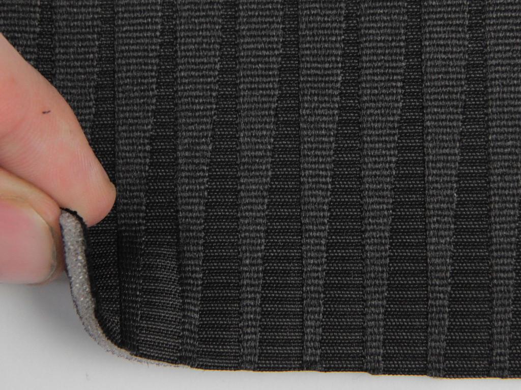 Ткань для сидений автомобиля, цвет черный, на поролоне и сетке (для центральной части) толщина 3мм