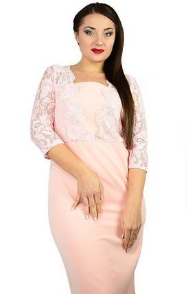 Стильное женское платье ткань *Костюмная* 52, 54, 56 размер батал, фото 2