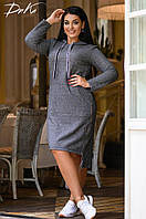 Платье-туника с капюшоном