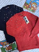 Свитер с жемчугами для девочек от 9 до 13 лет., фото 1