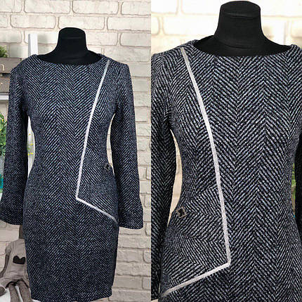 """Великолепное женское платье ткань """"Шерстяная нить+Люрекс"""" 46, 50 размер батал, фото 2"""