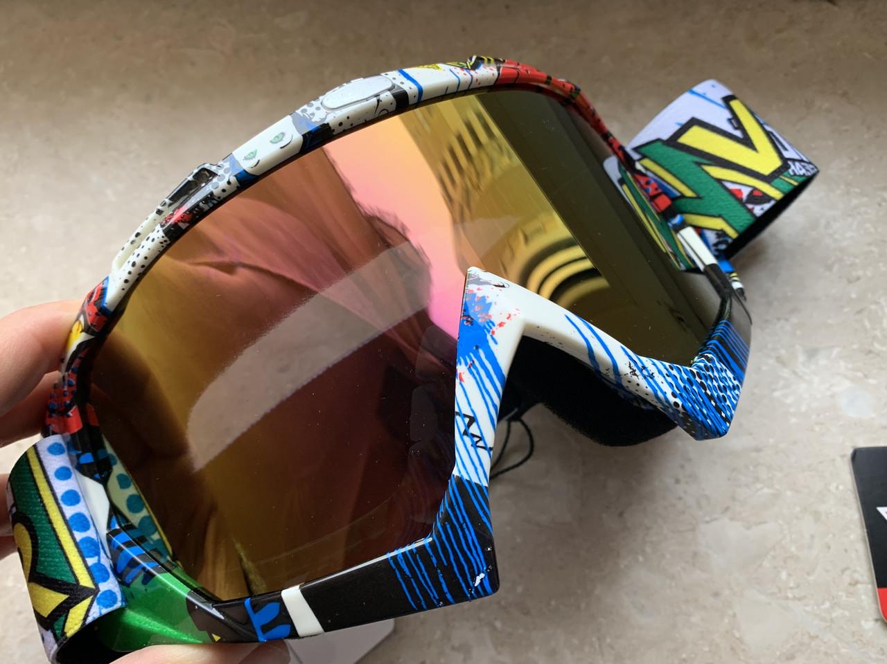 Яркие маски под мото кросс шлем очки